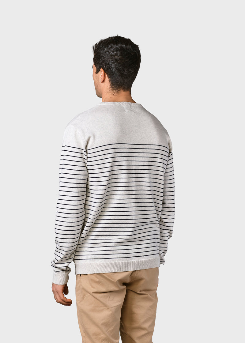 Klitmøller Collective ApS Elias knit Knitted sweaters Cream/navy