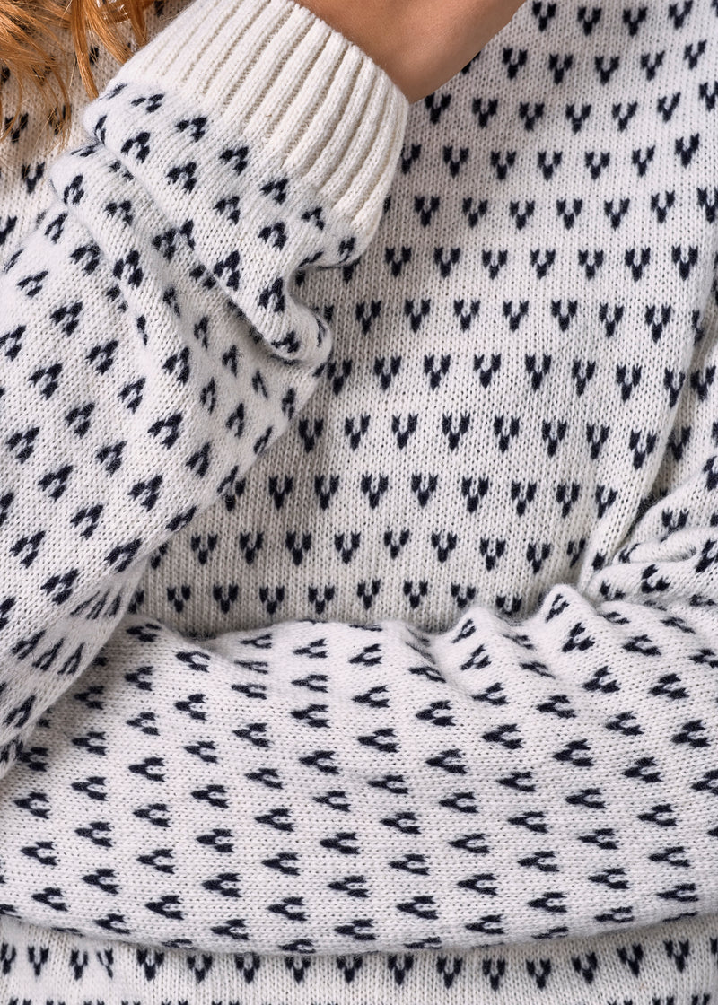 Klitmøller Collective ApS Mika knit Knitted sweaters Cream/navy