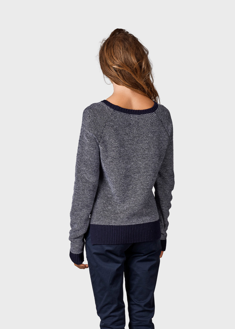 Klitmøller Collective ApS Arthur knit Knitted sweaters Navy/white