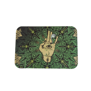 All Knowing Eye - Large Tray - Green