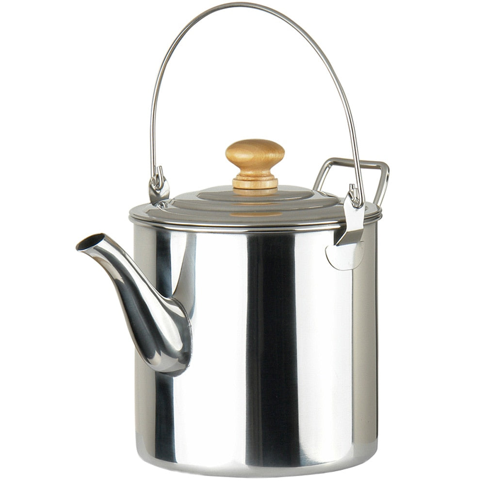 Outdoor Camping Pot Stainless Steel Kettle Tea Kettle Coffee Pot Outdoor Cooking Accessories Kettle Camping