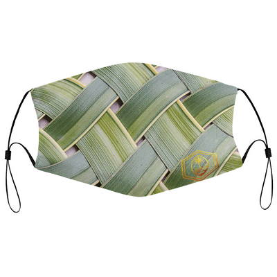 Coconut leaf face mask with Filter Element for Adults