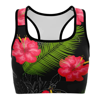Tropical design Sports Bra