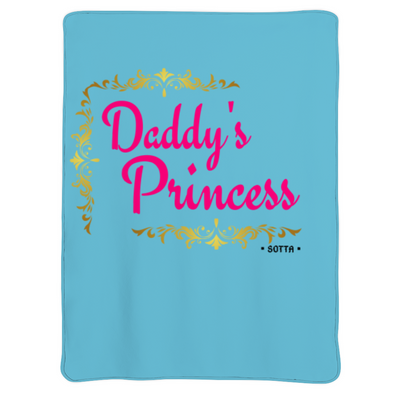 "Daddy's Princess Flannel Double-sided Printing Comfortable and Soft 40"" x 30''"
