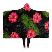 Floral Hooded Blanket