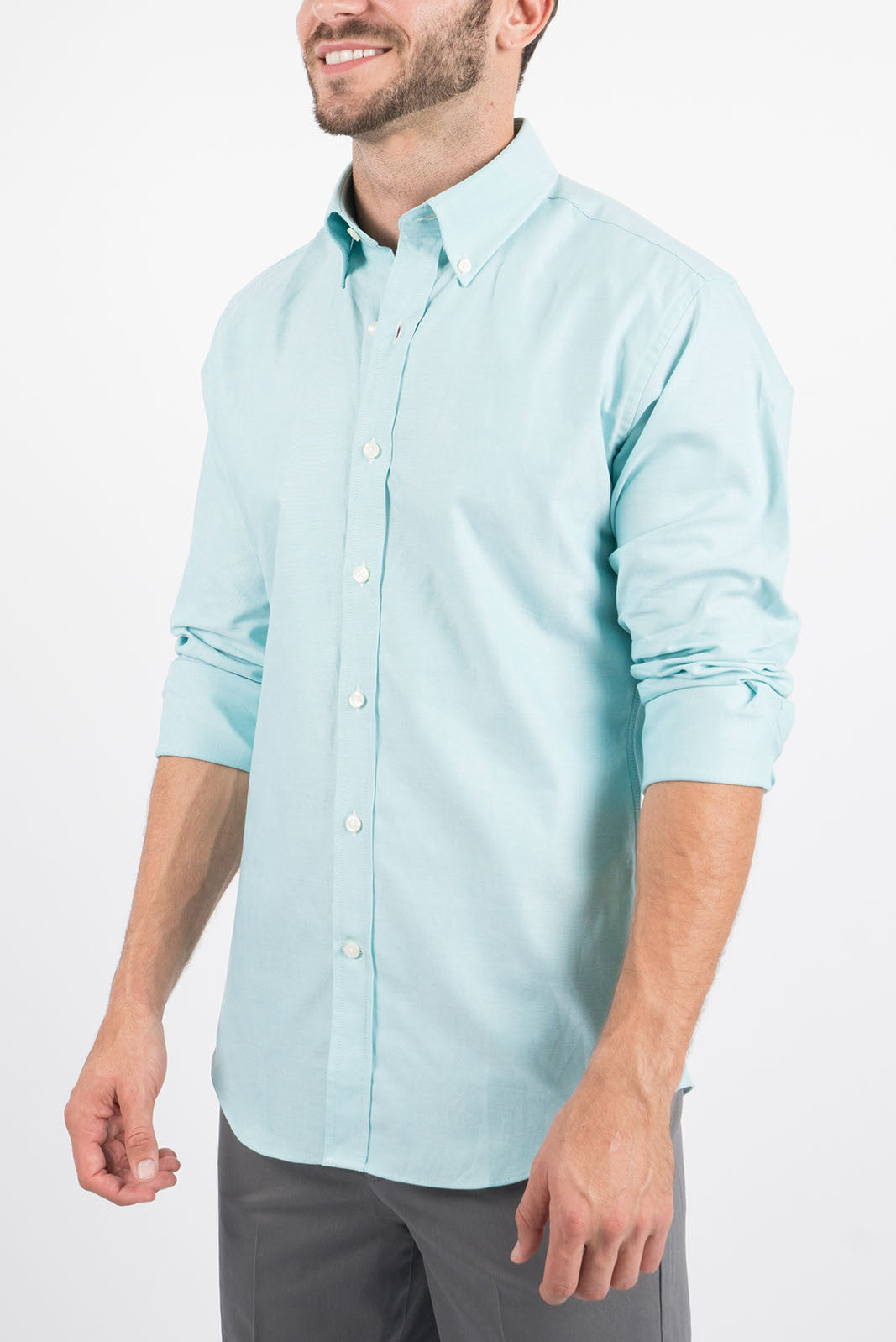 Turquoise Oxford: Button-Down Collar, Long Sleeve