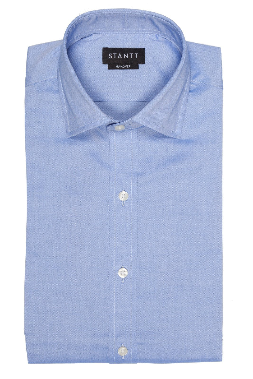 Blue Pinpoint Oxford: Modified-Spread Collar, French Cuff