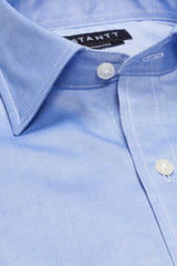 Blue Pinpoint Oxford: Modified-Spread Collar, Barrel Cuff