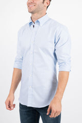 Light Blue Oxford: Button-Down Collar, Long Sleeve