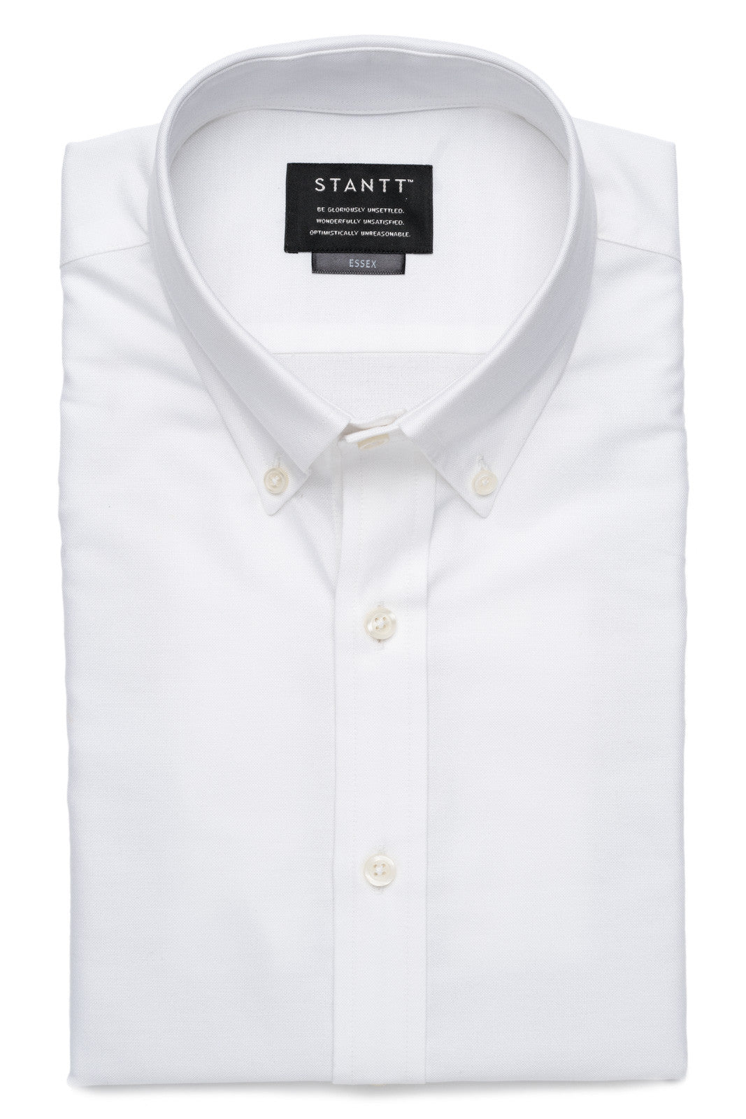 White Oxford: Button-Down Collar, Barrel Cuff