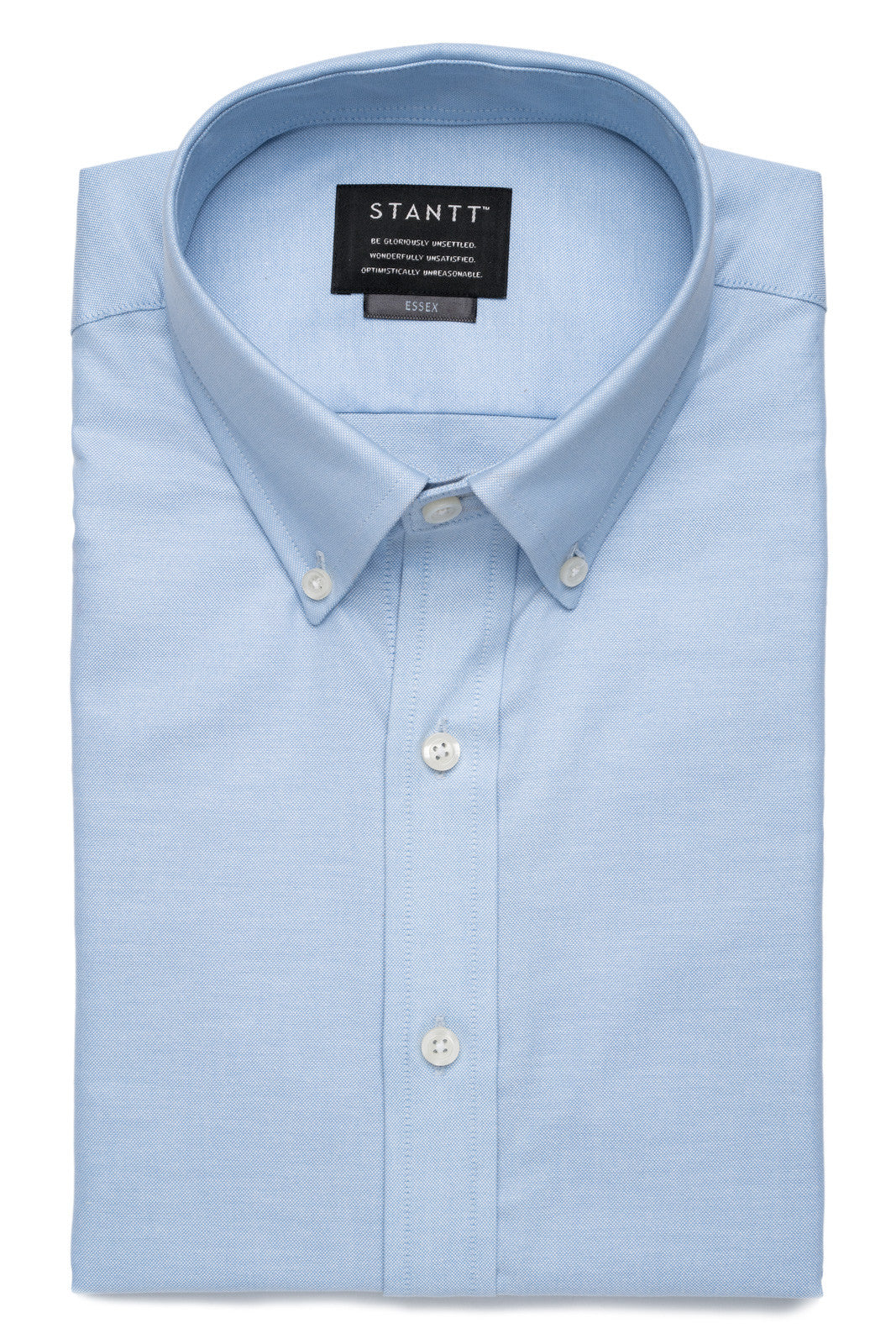 Light Blue Oxford: Button-Down Collar, Barrel Cuff