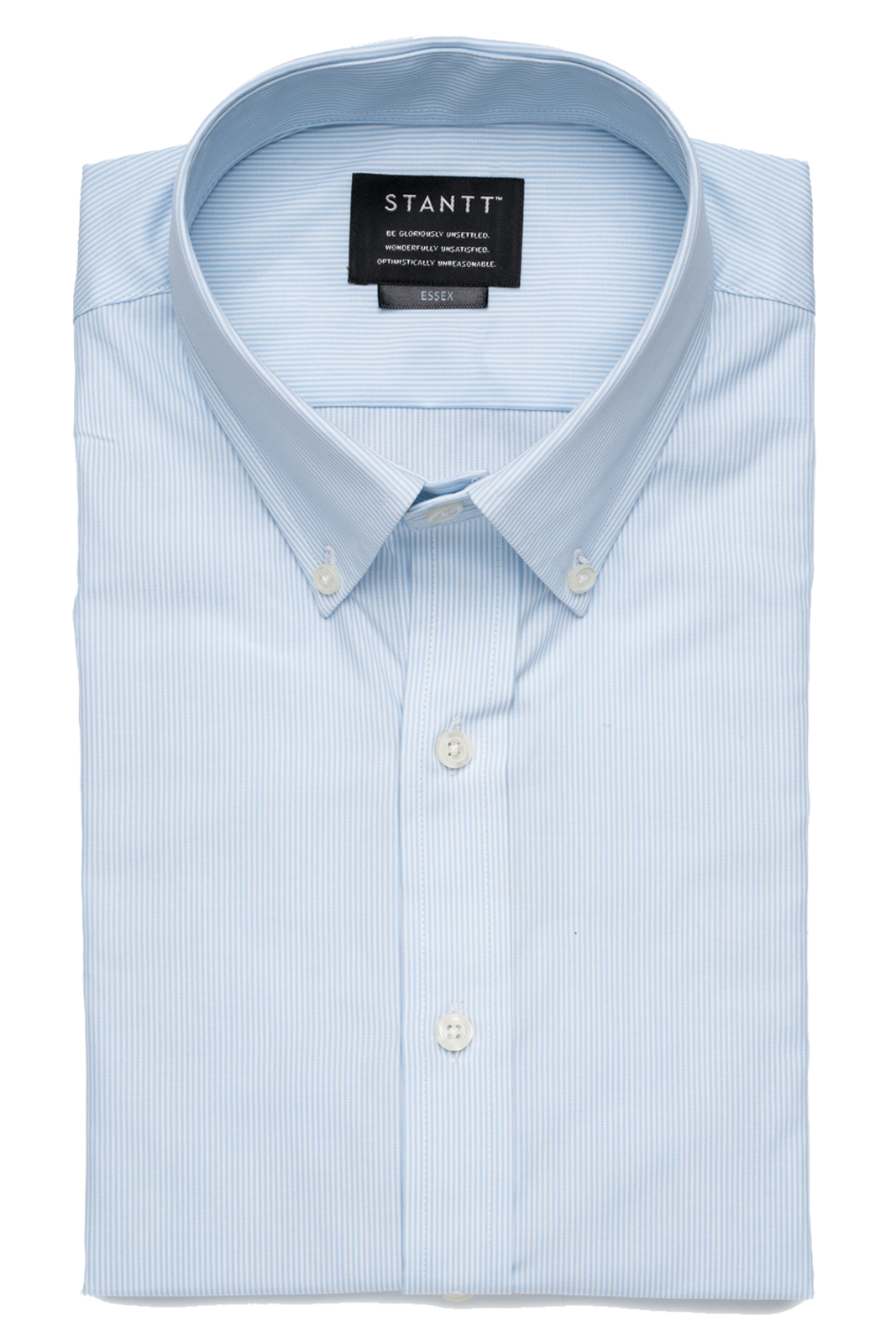 Light Blue Micro Stripe: Semi-Spread Collar, French Cuff