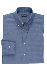 Slate Diamond Dot: Button-Down Collar, Barrel Cuff