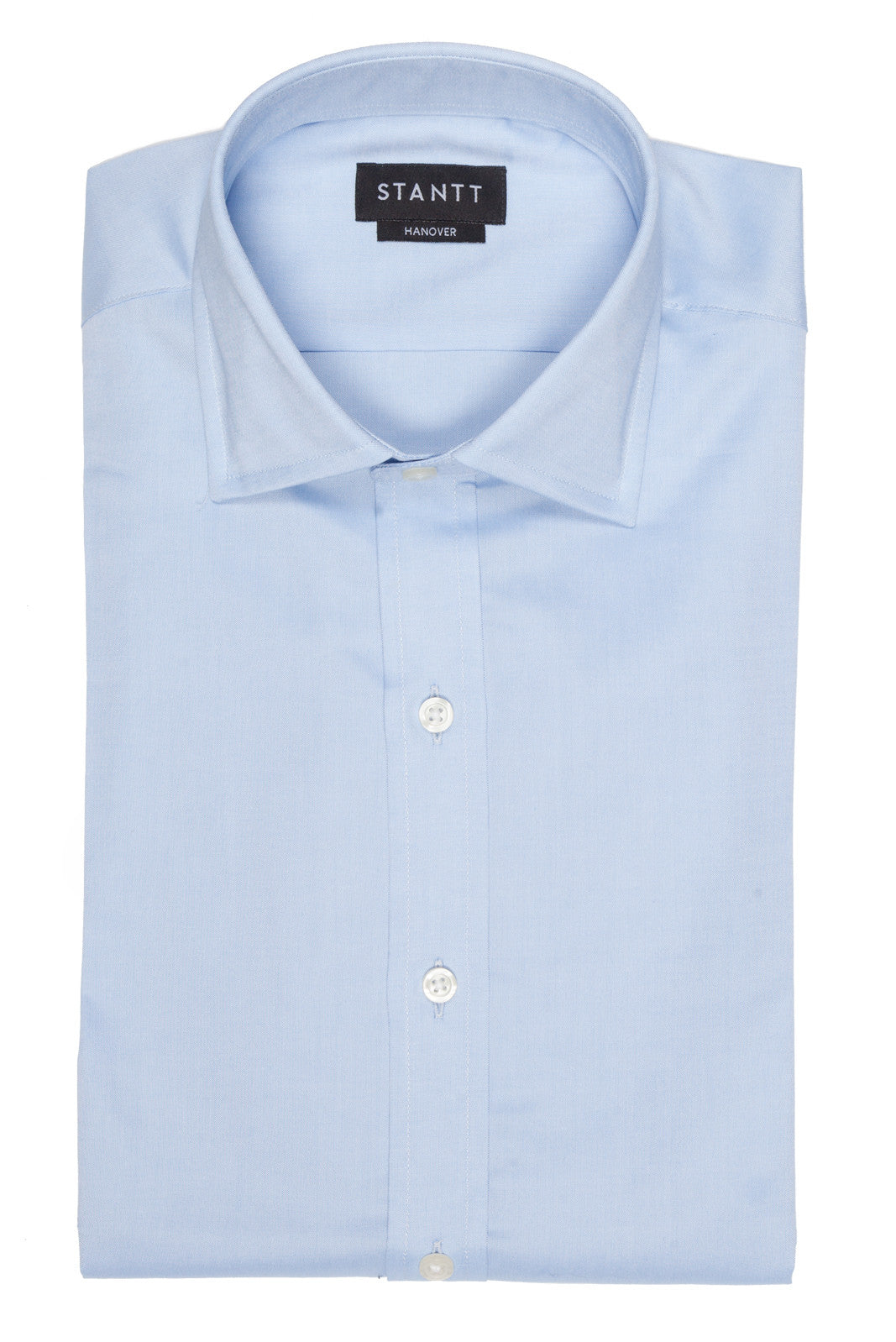 Light Blue Pinpoint Oxford: Semi-Spread Collar, French Cuff