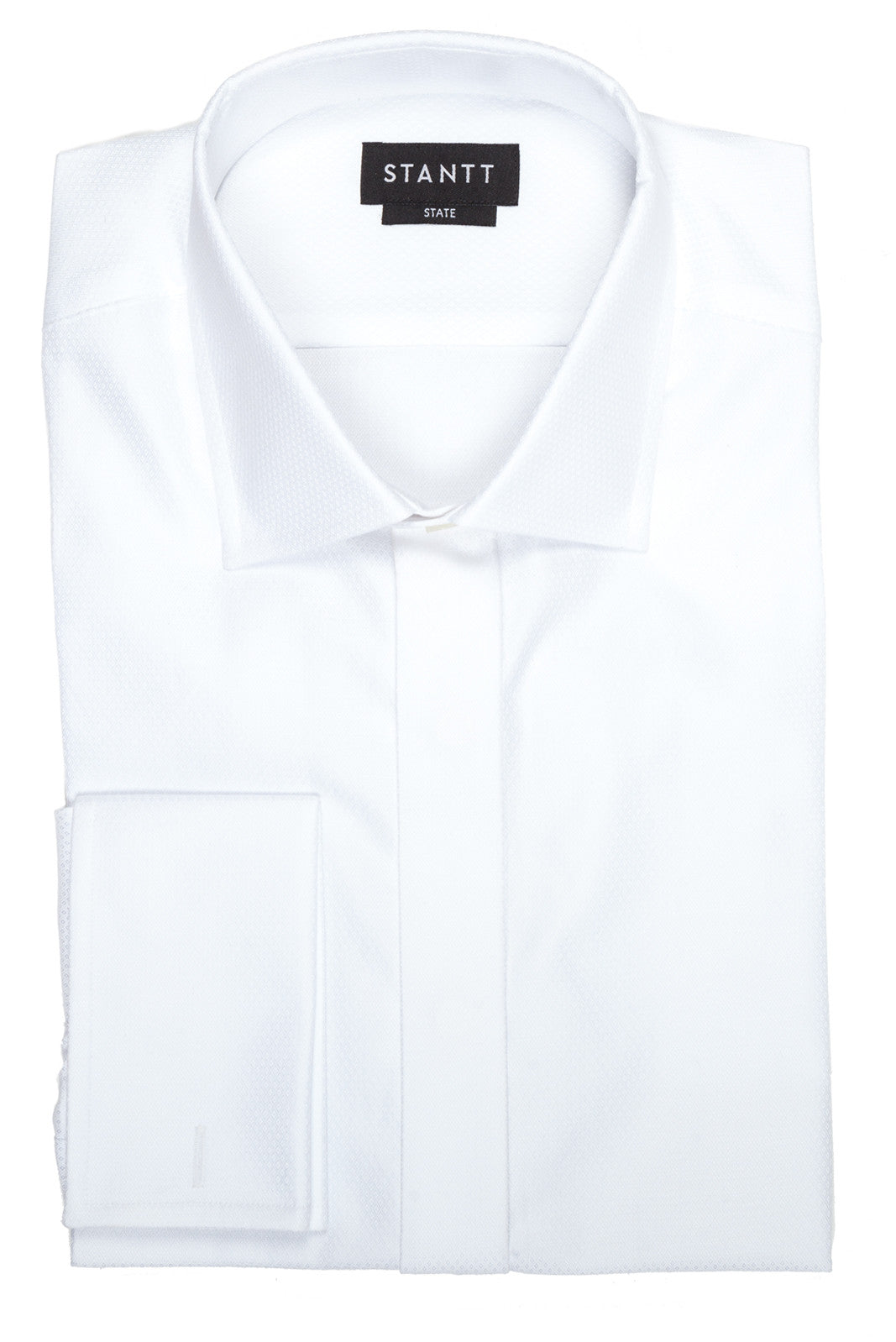 Fine White Poplin Formal Shirt: Hidden Placket