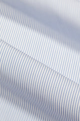 Wrinkle-Resistant Blue Tonal Dress Stripe