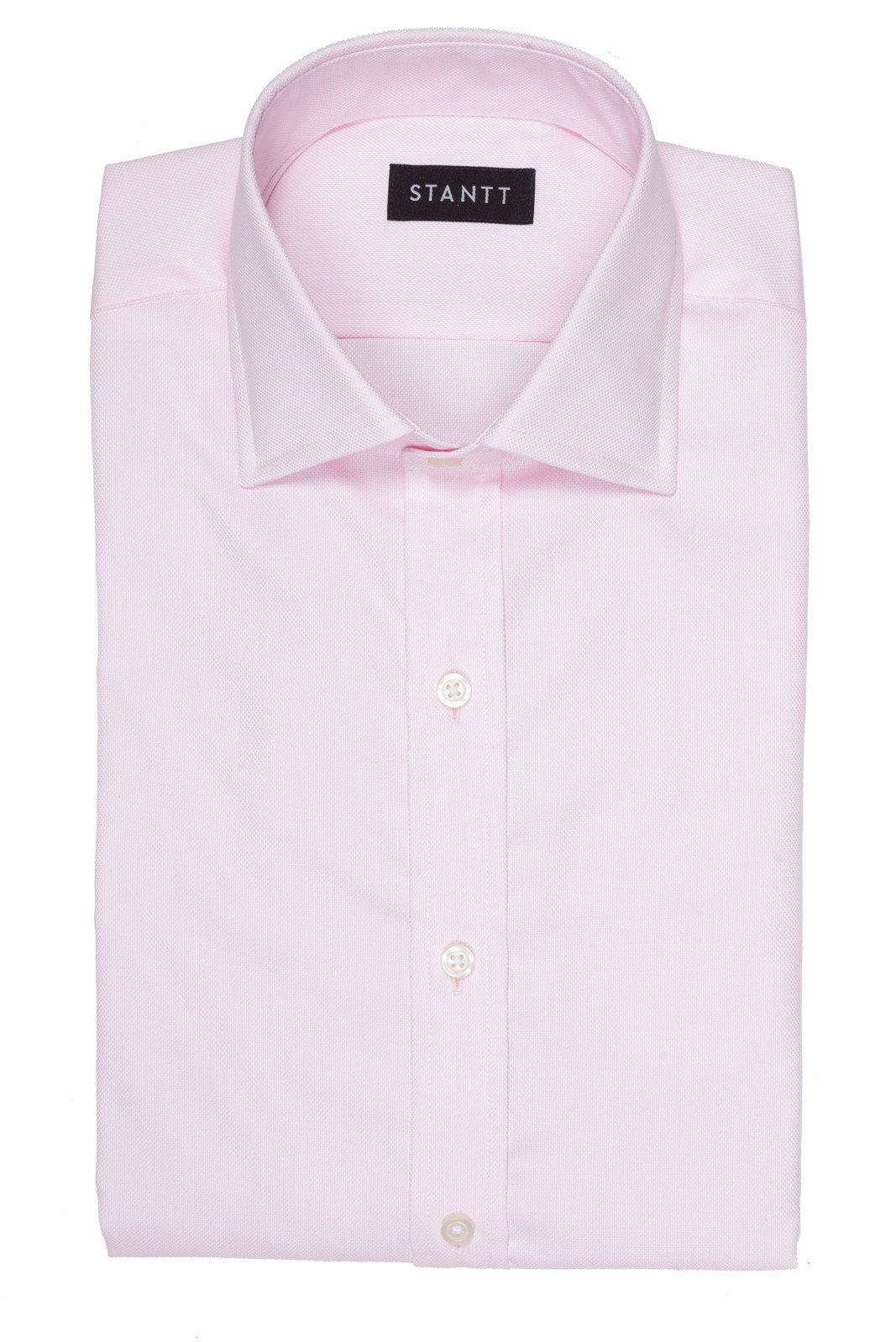 Pink Royal Oxford: Modified-Spread Collar, French Cuff