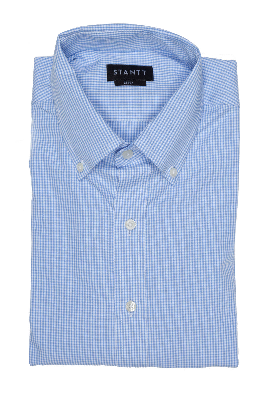 Sky Blue Micro Check: Cutaway Collar, Barrel Cuff