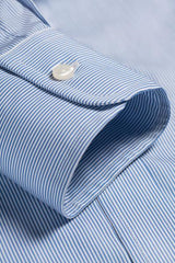 Blue Bengal Stripe: Cutaway Collar, Barrel Cuff