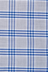 Melange Grey and Blue Box Check: Modified-Spread Collar, Barrel Cuff