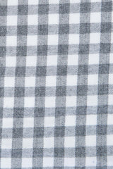 Brushed Grey Gingham: Button-Down Collar, Long Sleeve