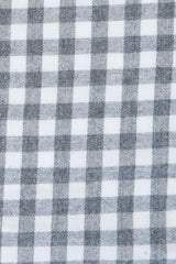 Brushed Grey Gingham: Modified-Spread Collar, French Cuff
