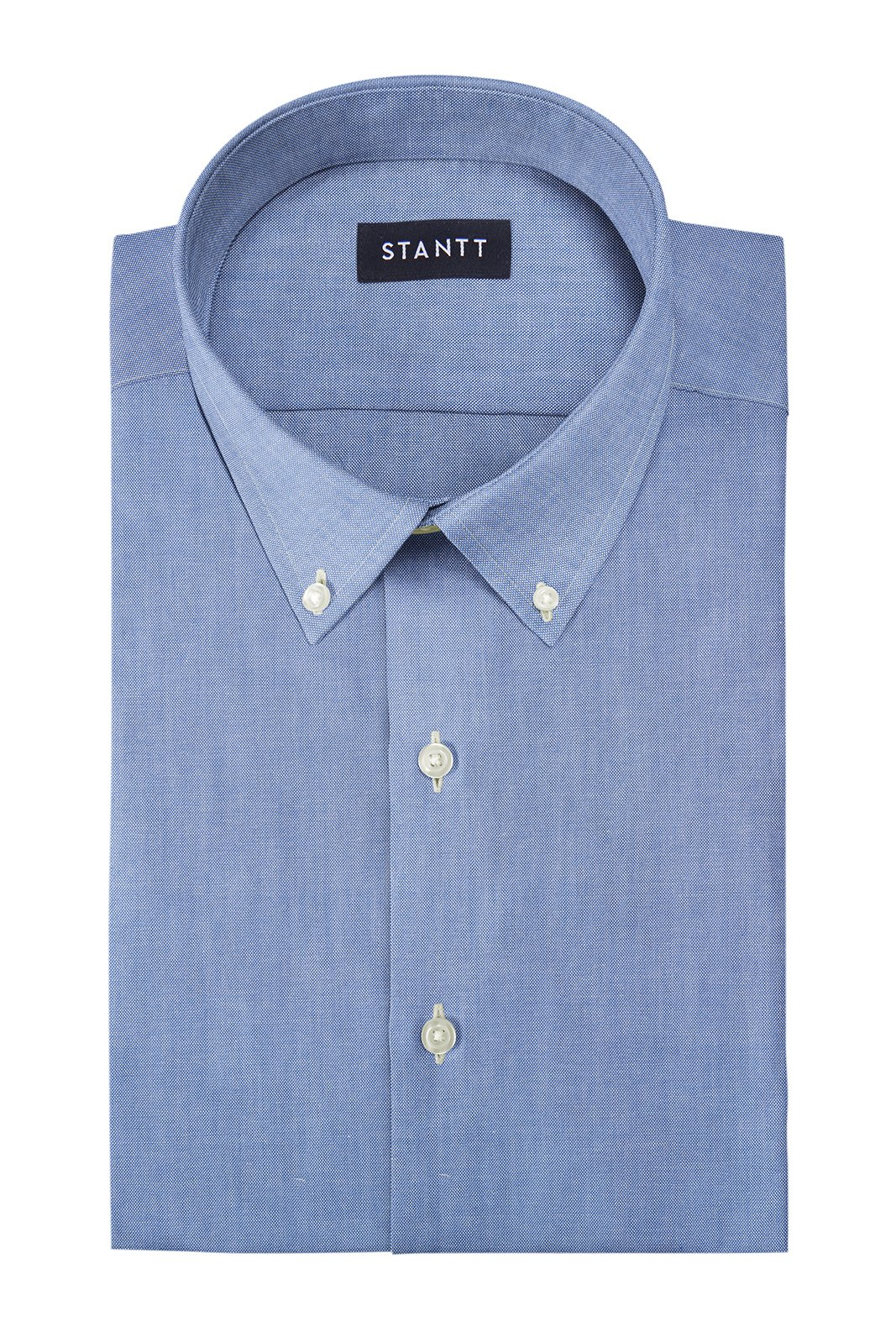 Indigo Oxford Chambray: Button-Down Collar, Barrel Cuff