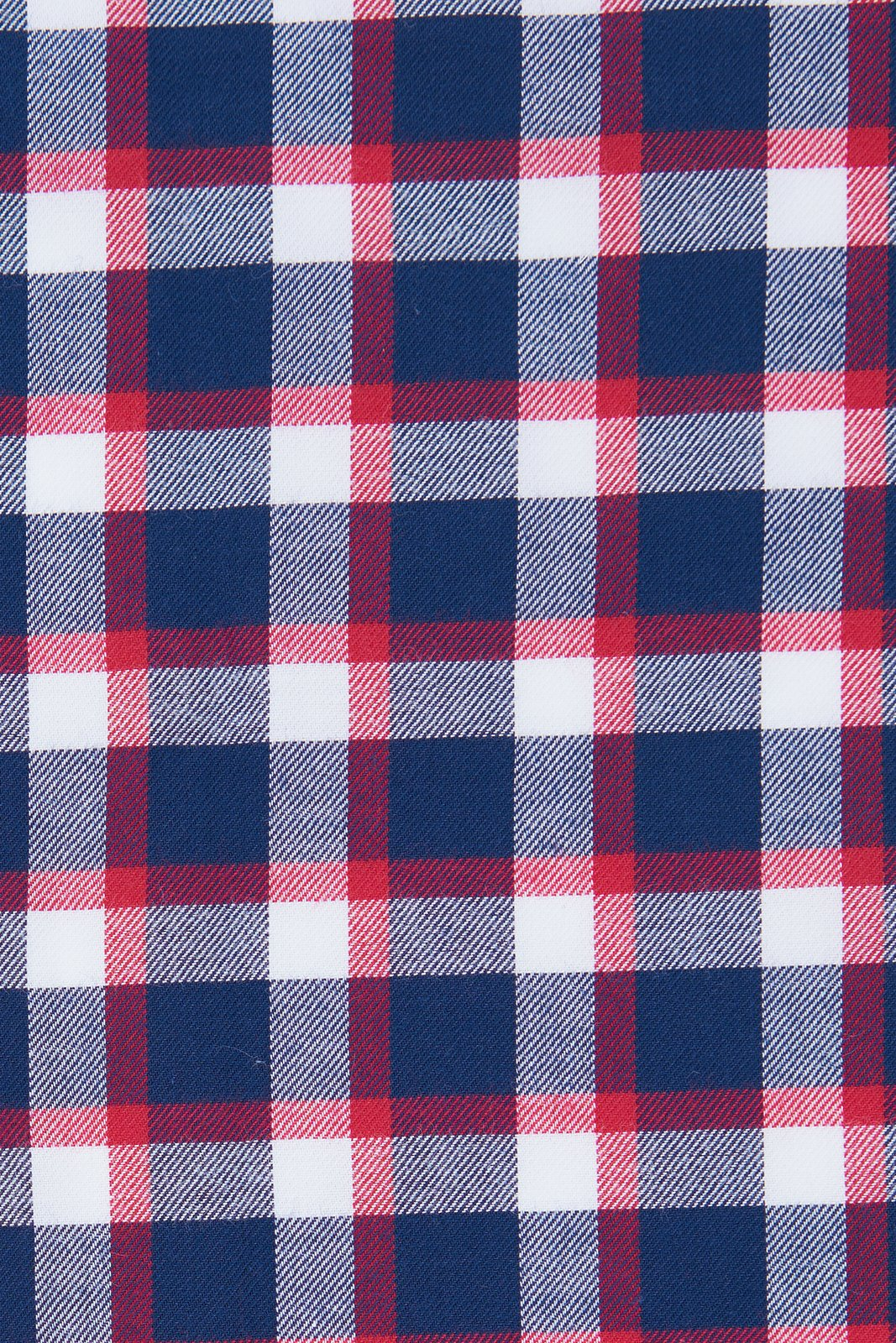 Red Accented Check Flannel