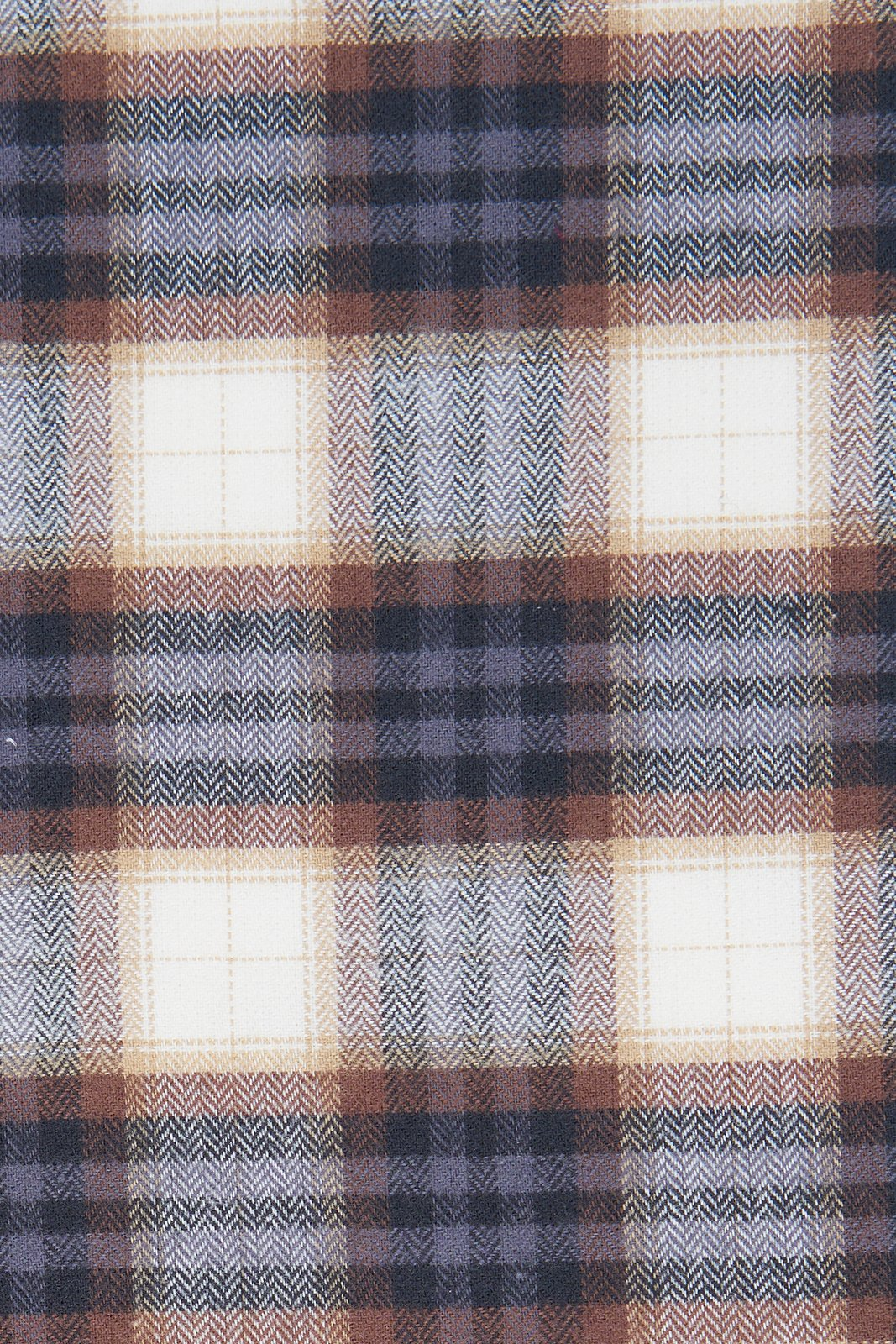 Brown and Sand Plaid Flannel