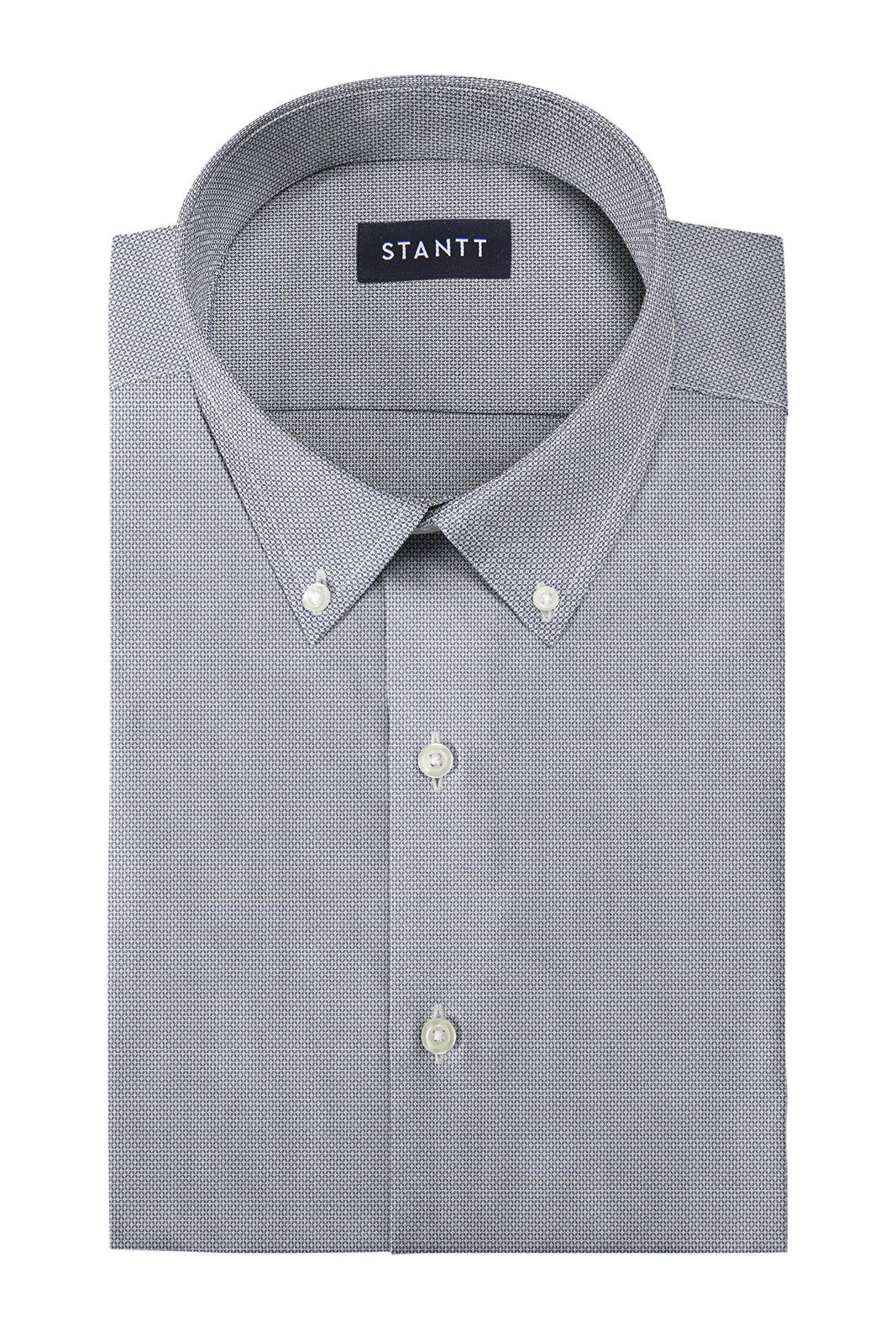 Navy Diamond Weave: Button-Down Collar, Barrel Cuff