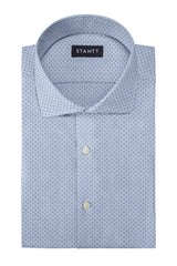 Light Blue Pinpoint Dot: Cutaway Collar, French Cuff