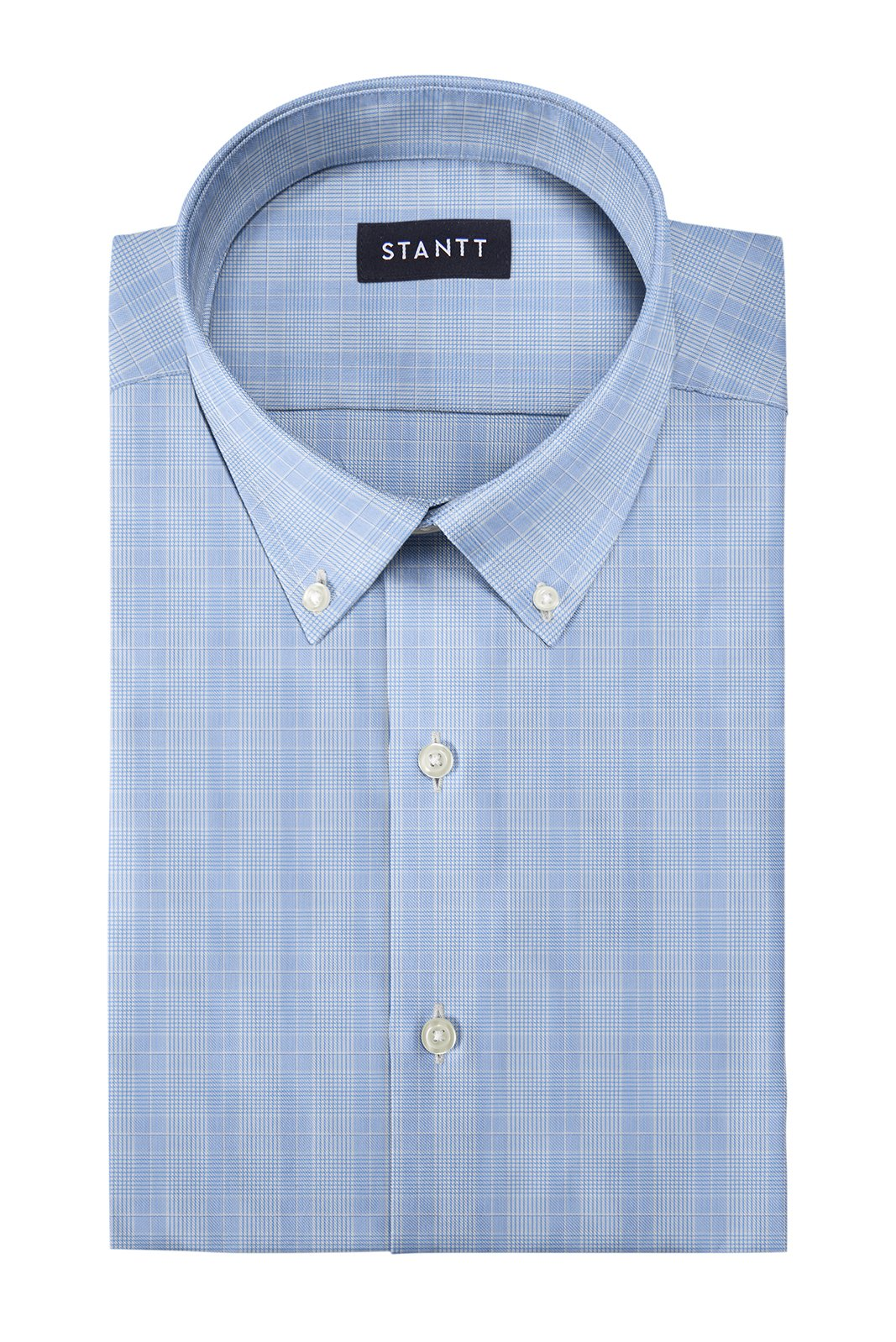 Bishop Blue Prince of Wales Check: Button-Down Collar, Barrel Cuff