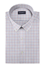 Matrix Multi-Color Tattersall: Button-Down Collar, Barrel Cuff