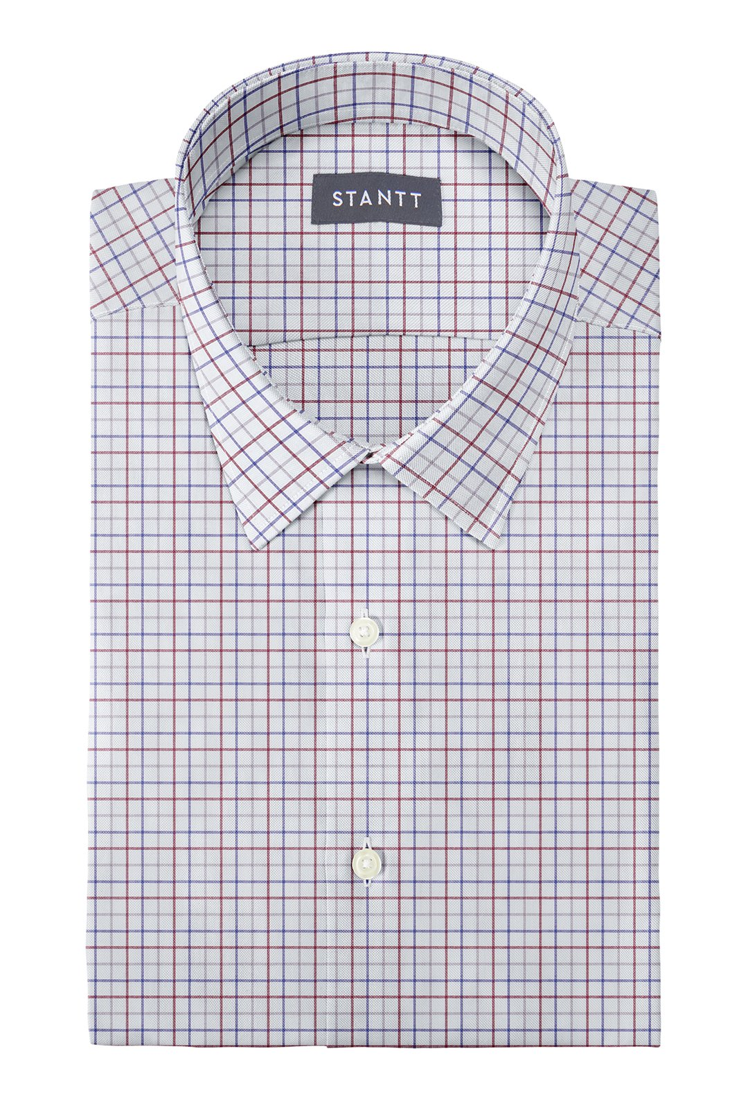 Matrix Multi-Color Tattersall: Semi-Spread Collar, Barrel Cuff