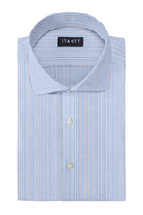 Matrix Reverse Blue Rail Stripe: Cutaway Collar, French Cuff