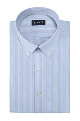 Matrix Reverse Blue Rail Stripe: Button-Down Collar, Barrel Cuff
