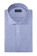 Soft Chambray: Cutaway Collar, Barrel Cuff