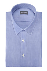 Soft Chambray: Semi-Spread Collar, Barrel Cuff