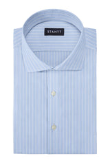 Wrinkle-Resistant Reverse Hairline Stripe: Cutaway Collar, Barrel Cuff