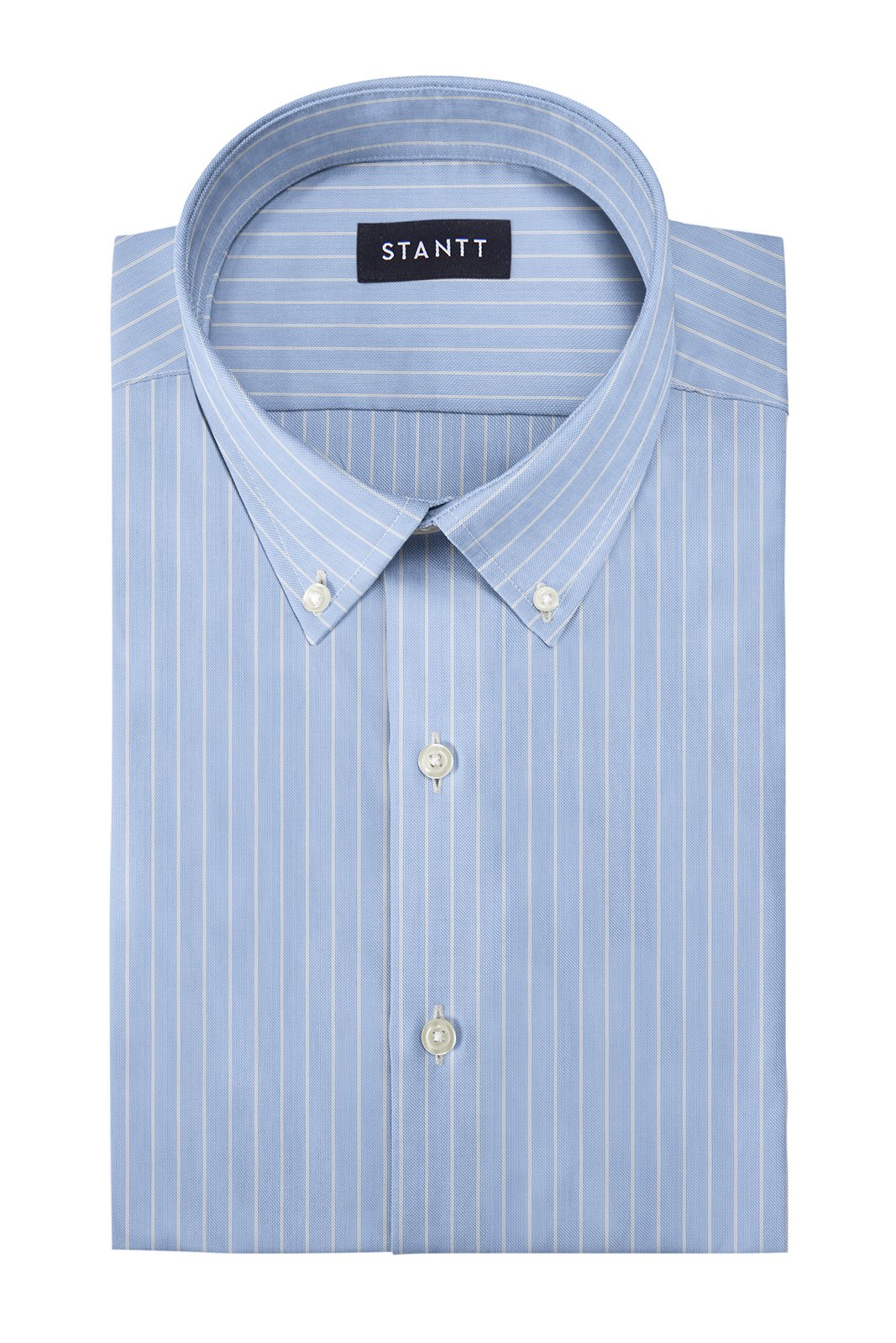 Wrinkle-Resistant Reverse Hairline Stripe: Button-Down Collar, Barrel Cuff