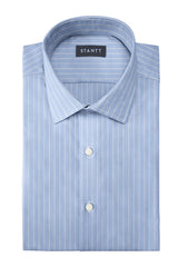 Wrinkle-Resistant Reverse Hairline Stripe: Modified-Spread Collar, French Cuff