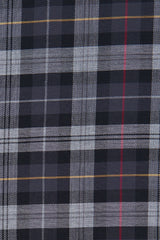 Black Tartan Flannel: Button-Down Collar, Barrel Cuff