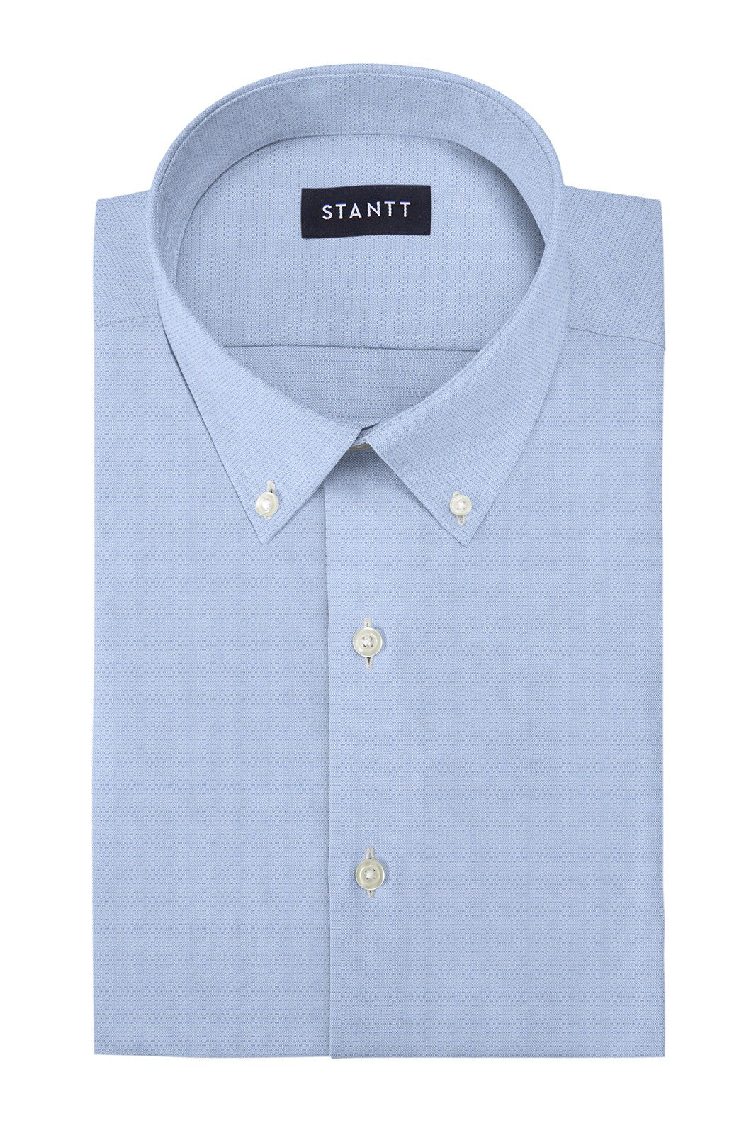 Light Blue Diamond Dobby: Button-Down Collar, Barrel Cuff