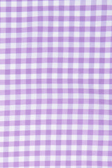 Performance Purple Gingham: Modified-Spread Collar, French Cuff