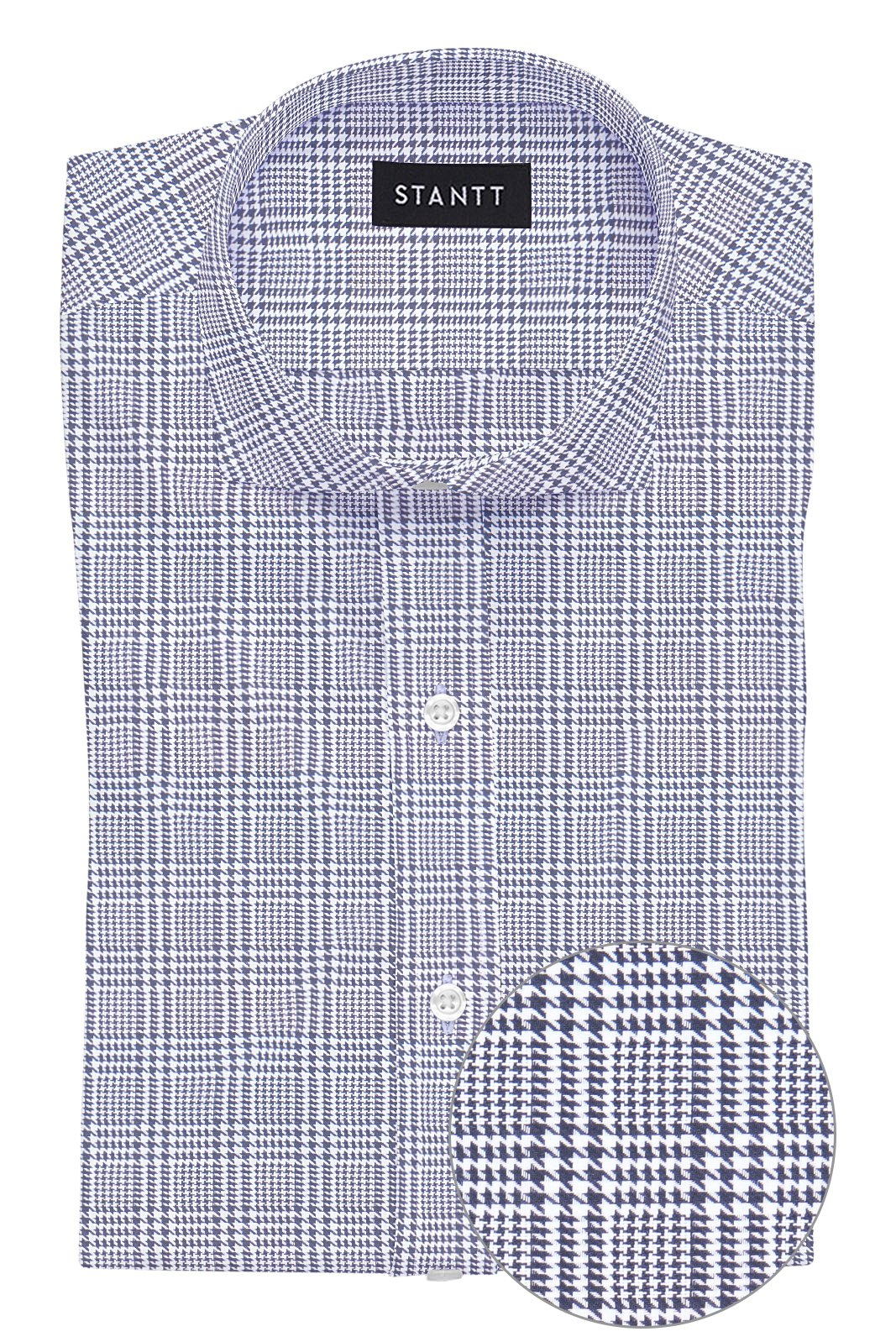 Black Prince of Wales Check: Cutaway Collar, French Cuff
