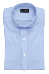 Blue Bengal Stripe: Cutaway Collar, French Cuff
