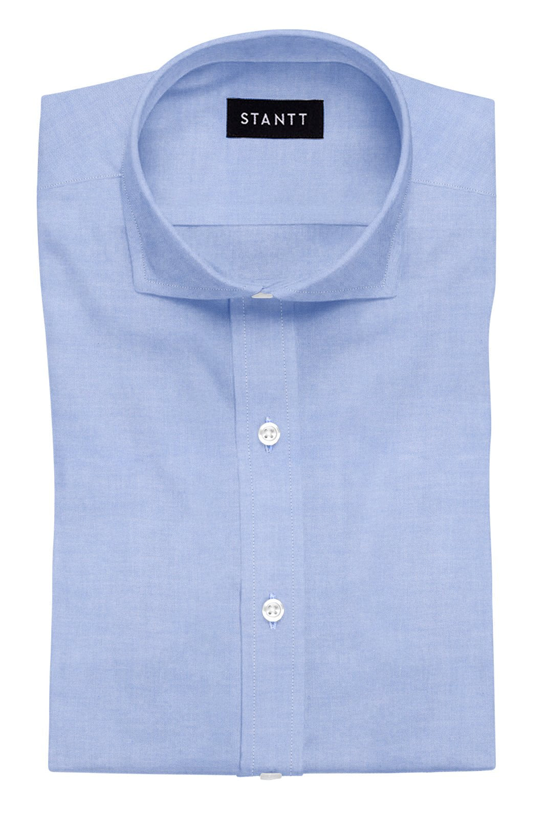 Blue Pinpoint Oxford: Cutaway Collar, French Cuff