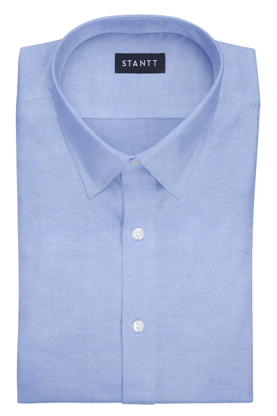 Blue Pinpoint Oxford: Semi-Spread Collar, French Cuff