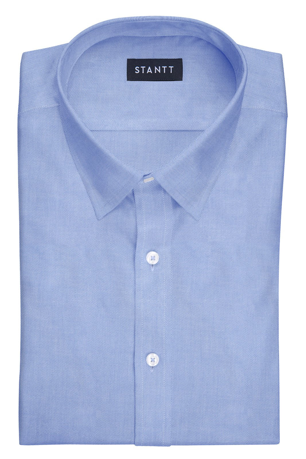 Blue Royal Oxford: Semi-Spread Collar, French Cuff