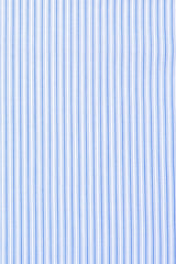 British Blue Accented Stripe: Semi-Spread Collar, French Cuff